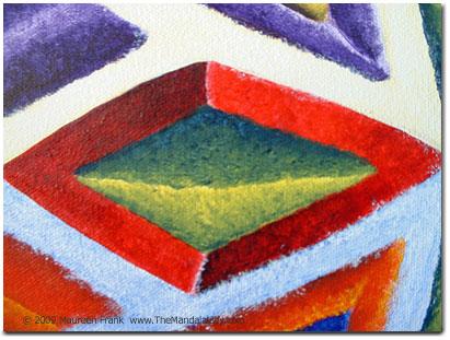 Close up: red diamond frame