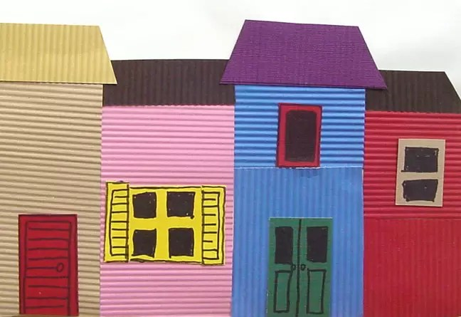 La Boca Houses Of Argentina Art Projects For Kids
