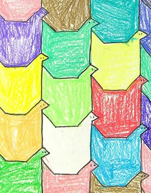 Bird Tessellation Art Projects For Kids