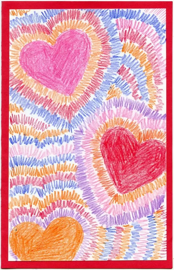 Radiating Hearts Art Projects For Kids