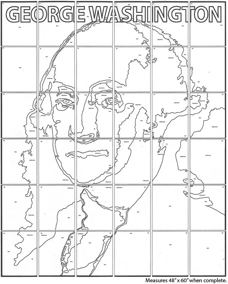 George Washington Mural · Art Projects for Kids