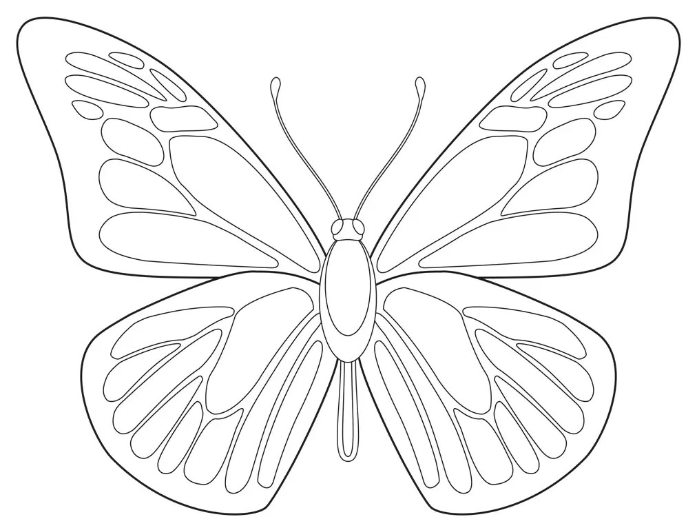 Free Butterfly Printable · Art Projects for Kids