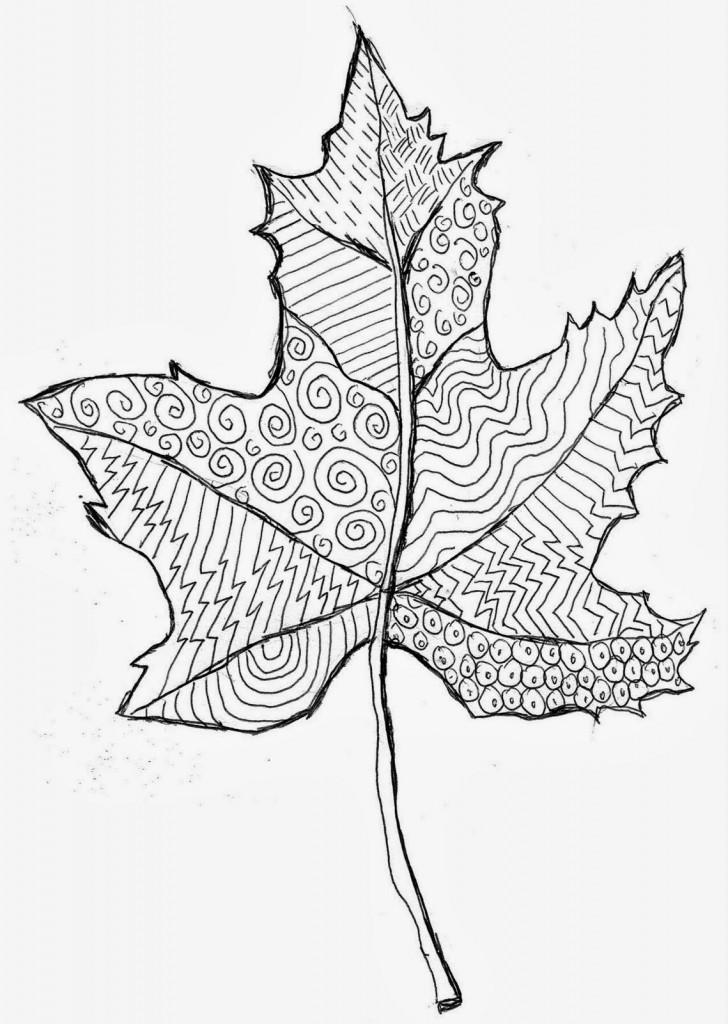 Line Pattern Leaf · Art Projects for Kids
