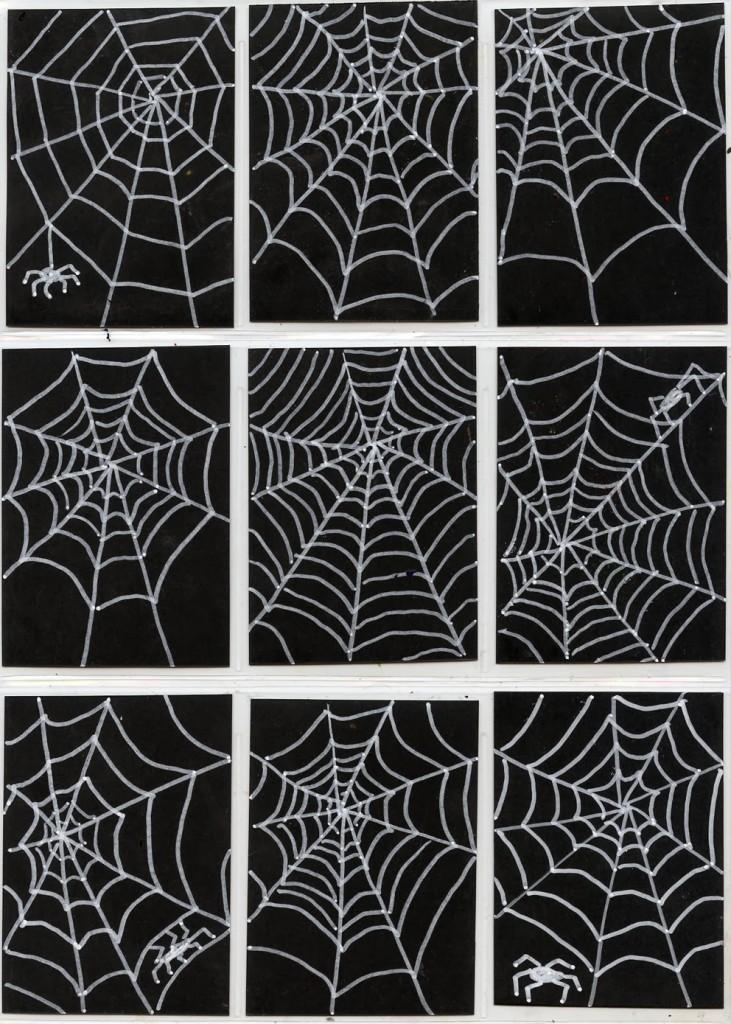 spiderweb drawing