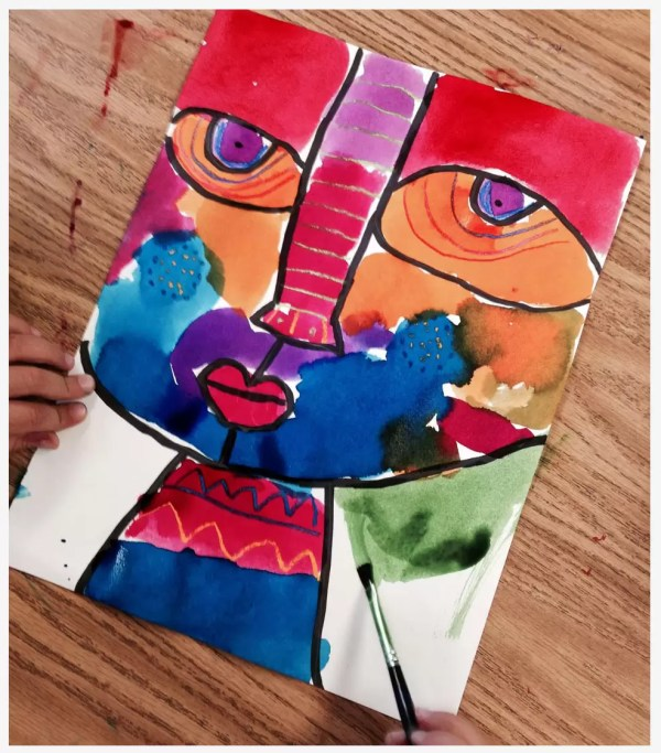Big Face Painting - Art Projects Kids