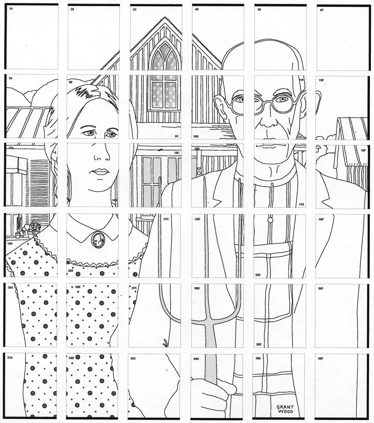 American Gothic Mural · Art Projects for Kids