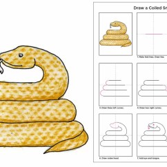 Skeleton Diagram For 4th Grade Jvc Stereo Wiring Draw A Coiled Snake · Art Projects Kids