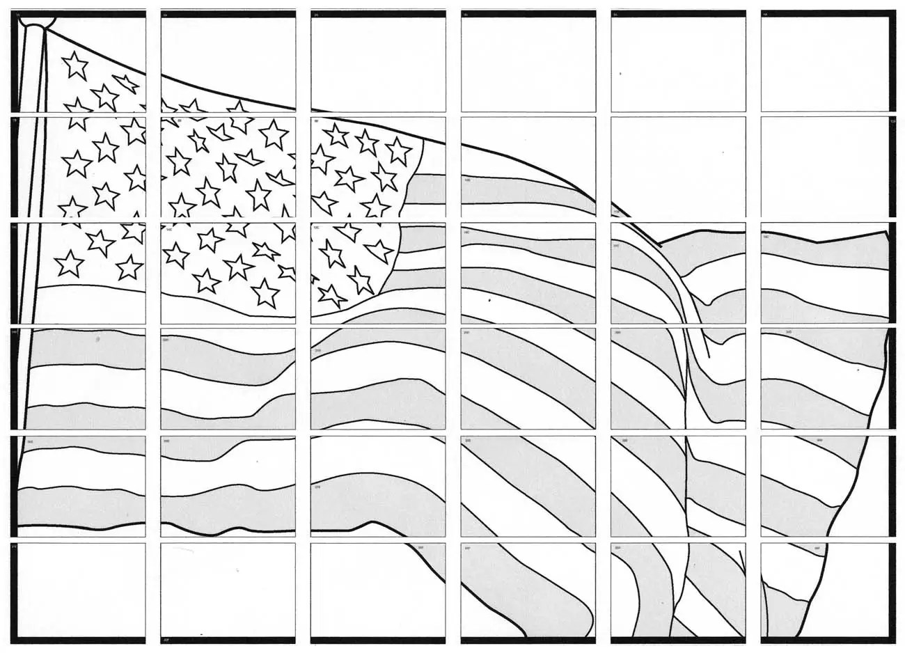 Usa Flag Mural Art Projects For Kids