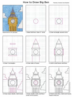 ben projects draw drawing project lessons london kid artprojectsforkids england drawings clock diagram dessin learn easy step simple debutant architectural
