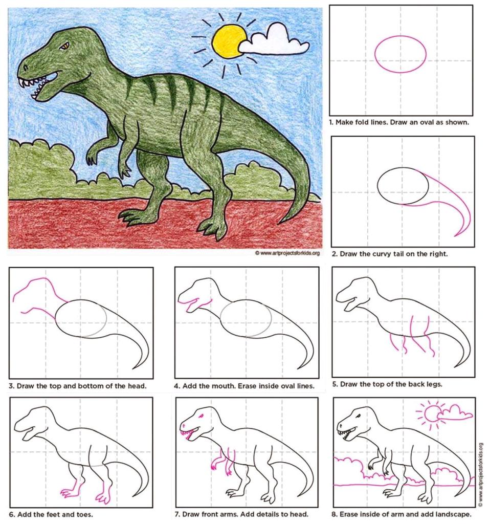 T Rex Art Projects For Kids