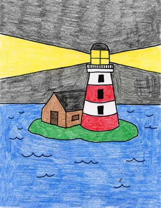Lighthouse Art Projects For Kids