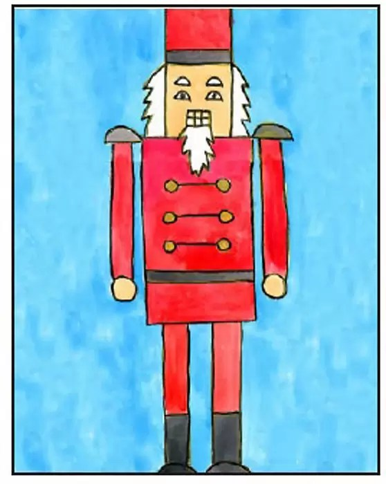 How To Draw A Nutcracker Art Projects For Kids
