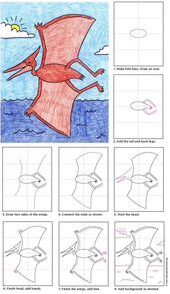 Pterodactyl Art Projects For Kids