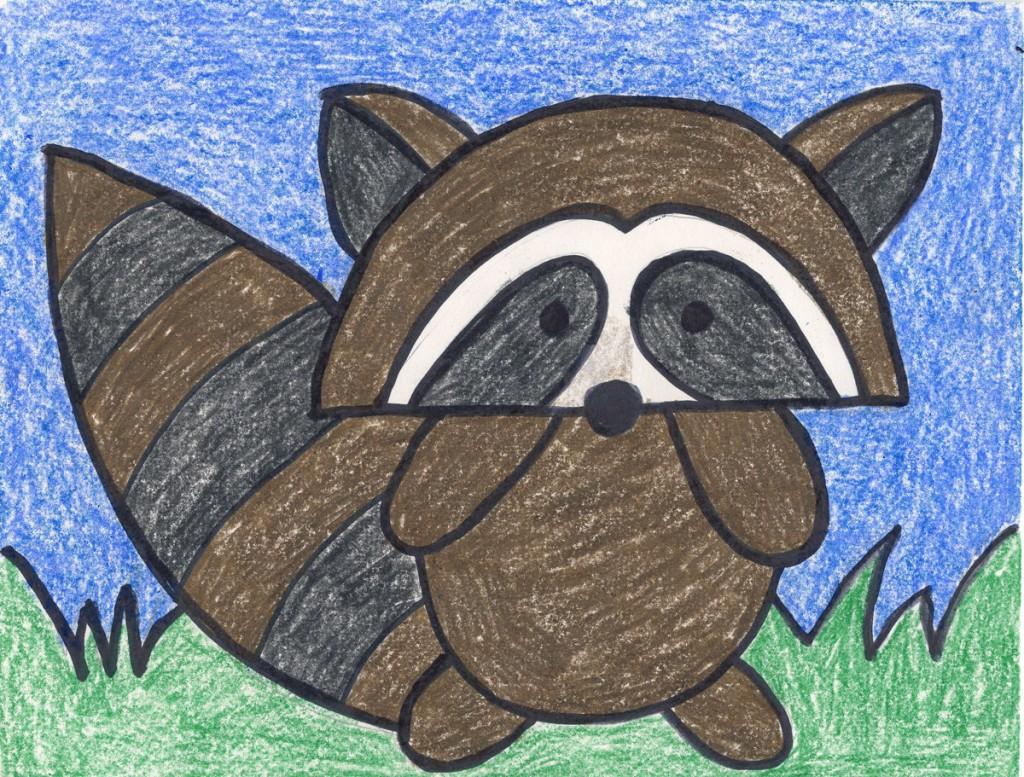 Draw A Cartoon Raccoon
