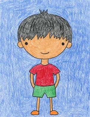 boy cartoon draw boys step drawing easy character artprojectsforkids mamaw doodles directions princess