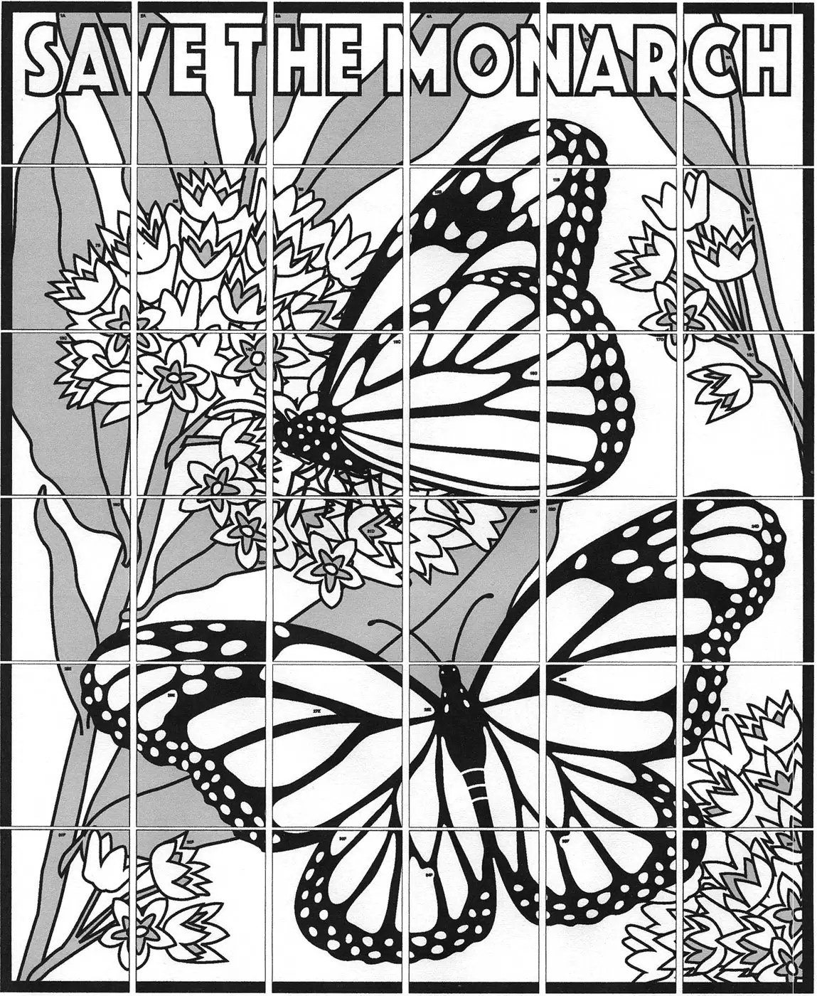 Monarch Mural Art Projects For Kids
