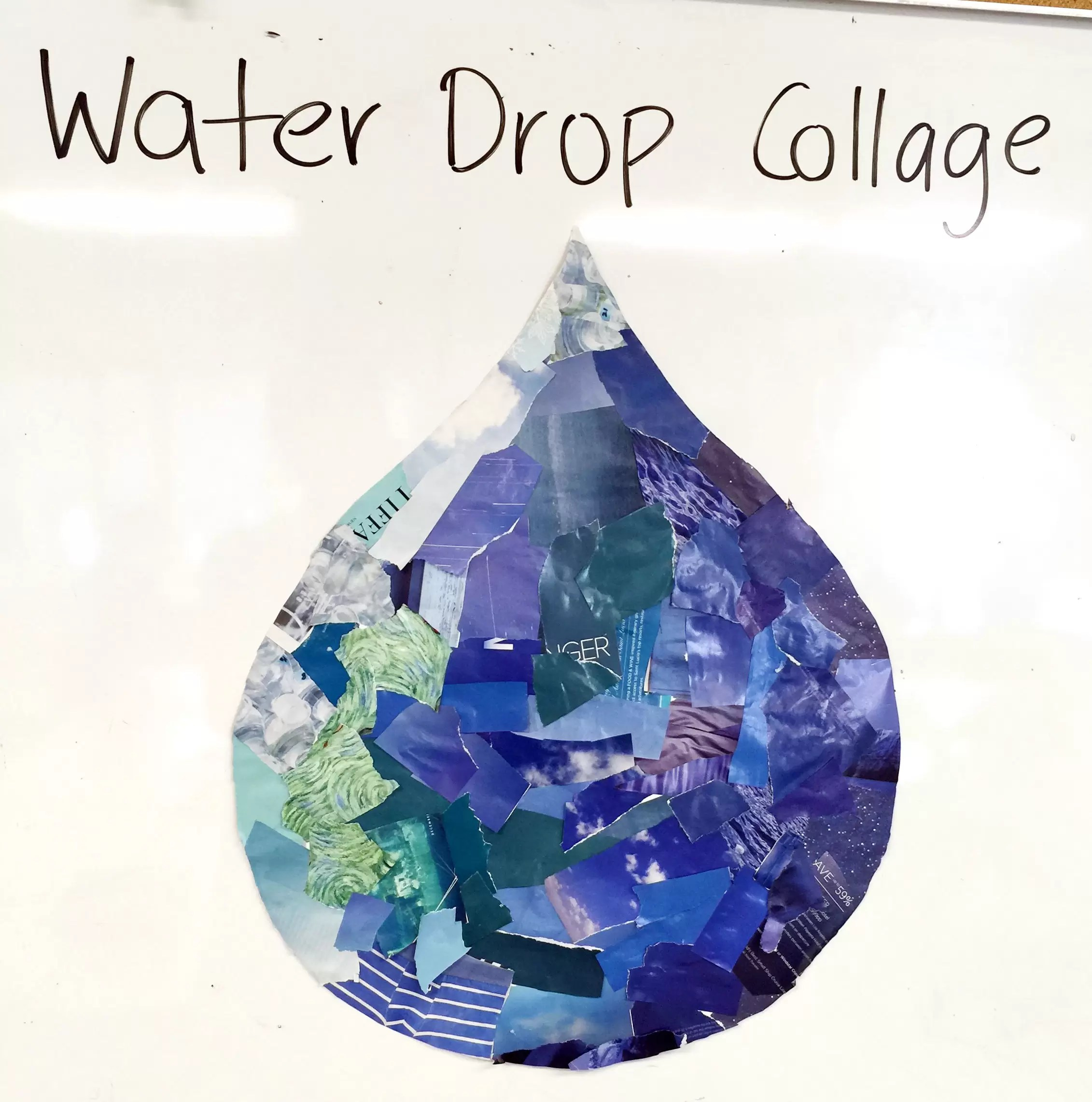 Earth Day Water Conservation Collage Art Projects For Kids