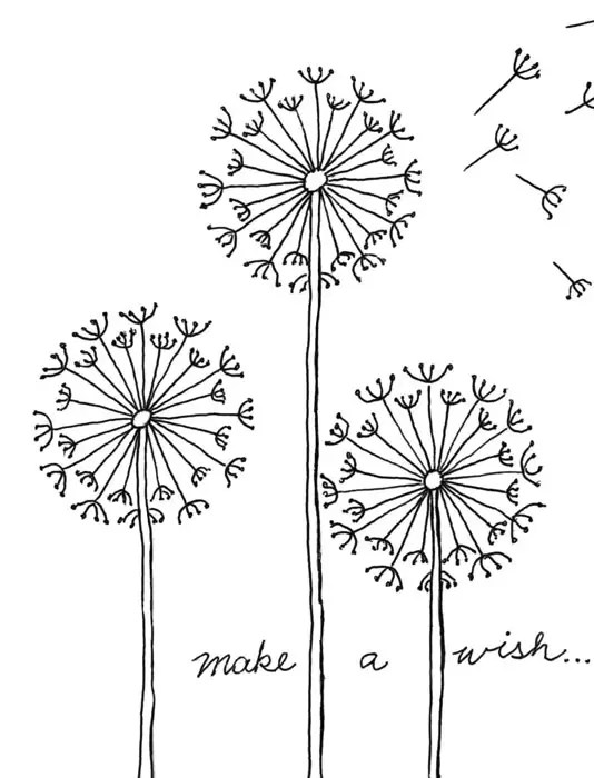 Draw a Dandelion · Art Projects for Kids