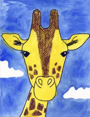 giraffe draw face drawing projects painting watercolor grade tutorial giraffes oil paint pastels drawings step animal water artprojectsforkids simple faces