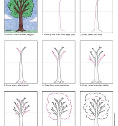 how to draw a tree [ 865 x 1106 Pixel ]