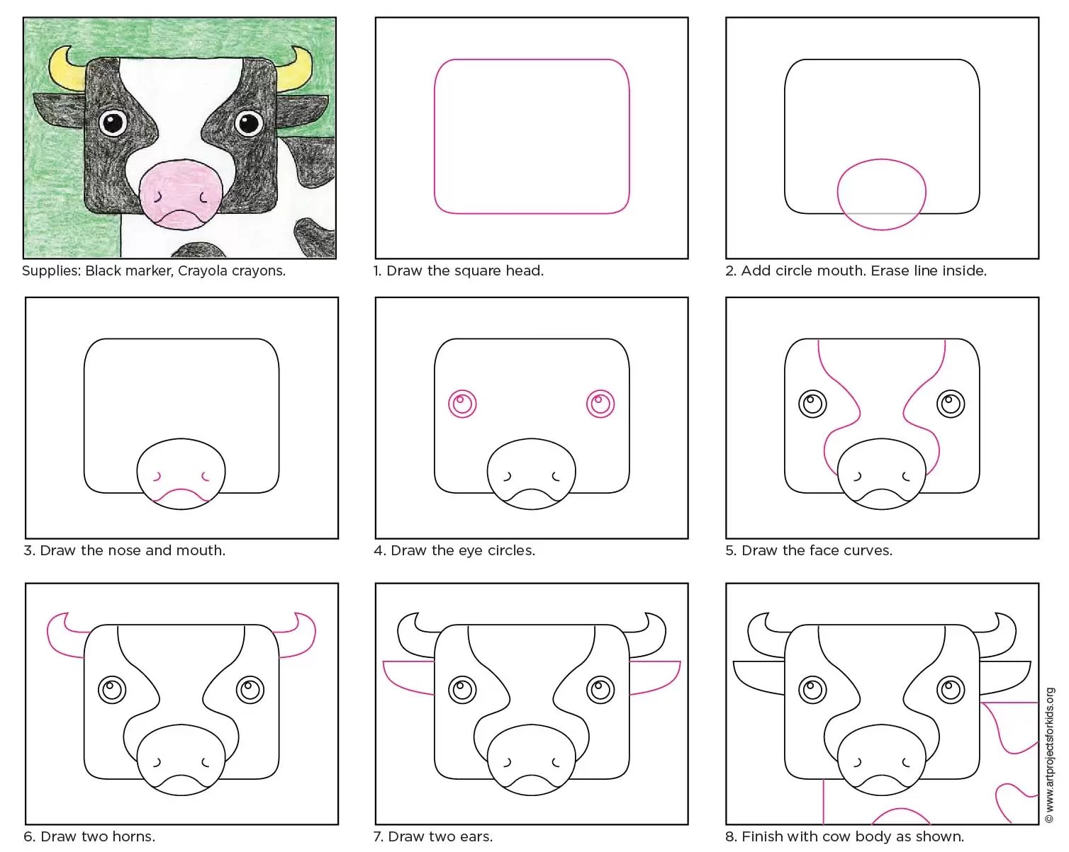 Cow Head Art Projects For Kids