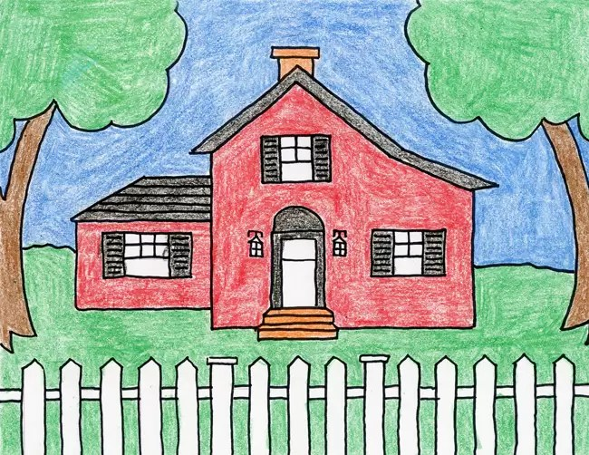 Draw A Country House Art Projects For Kids