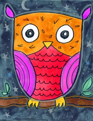 owl draw easy projects simple drawing owls artprojectsforkids drawings painting project pretty tutorials paint grade night 5th crafts learn artist
