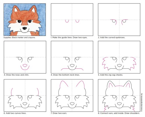 small resolution of fox face drawing