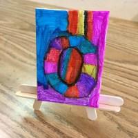 Mini Canvas Art - Art Projects for Kids