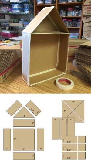 Cutaway Cardboard House  Art Projects for Kids