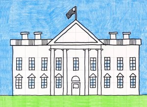 draw drawing grade easy cartoon artprojectsforkids whitehouse projects american symbols 1st directed dog cat way
