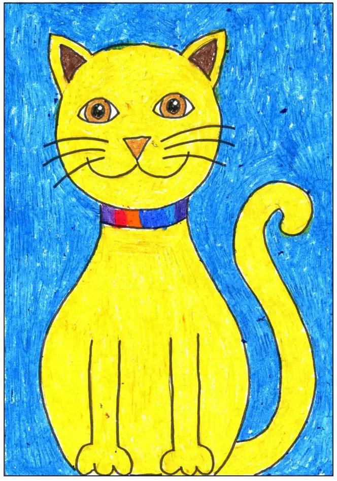 simple cat drawing