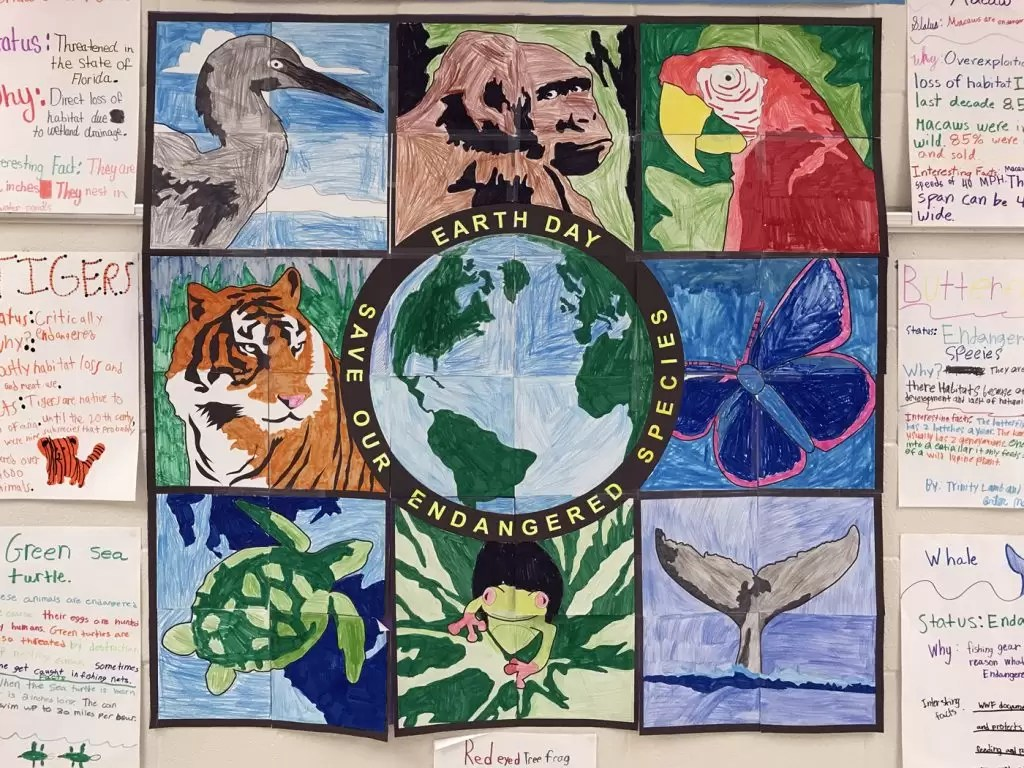 Student Endangered Animals Mural