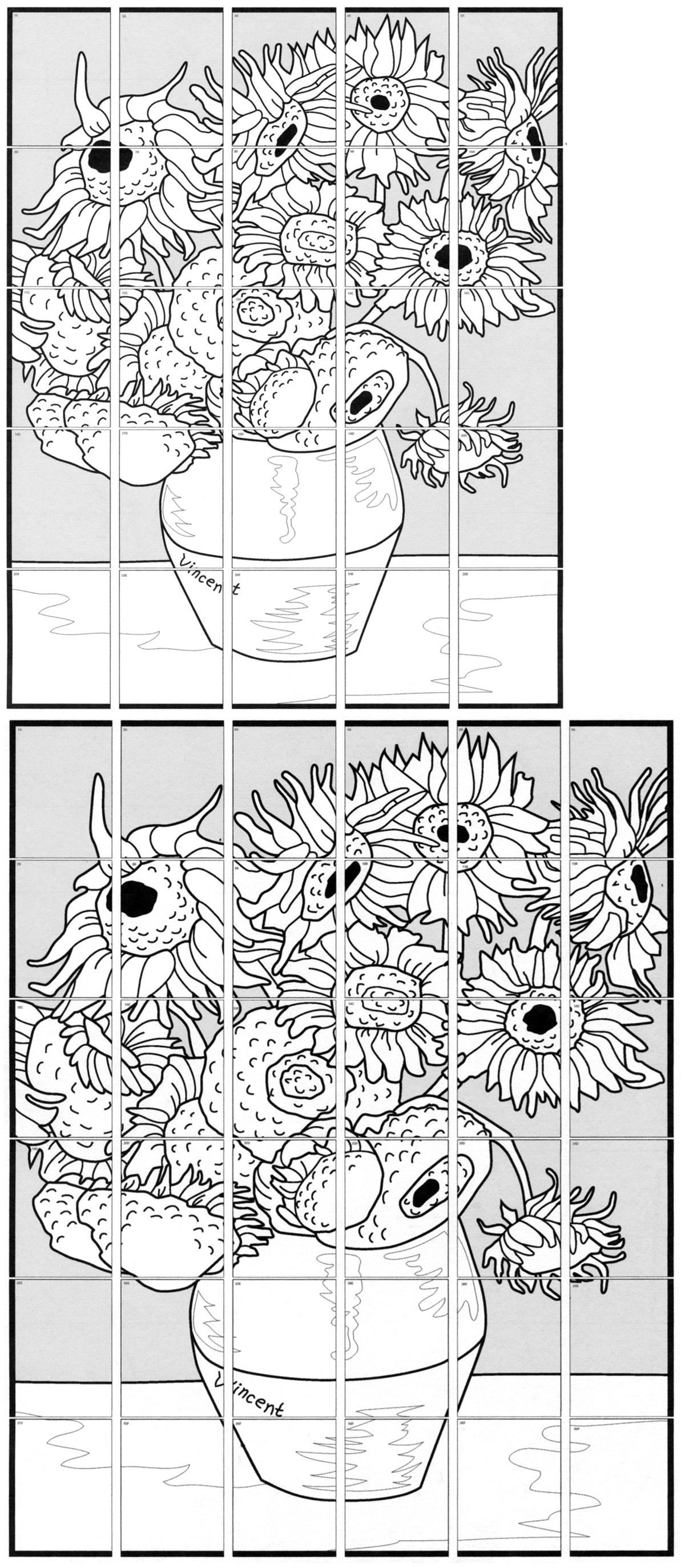 Van Gogh Sunflower Mural Art Projects For Kids