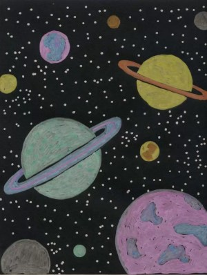 planet drawing fun projects space drawings cool metallic children paper artprojectsforkids project markers amazing marker kunst theme card chalk