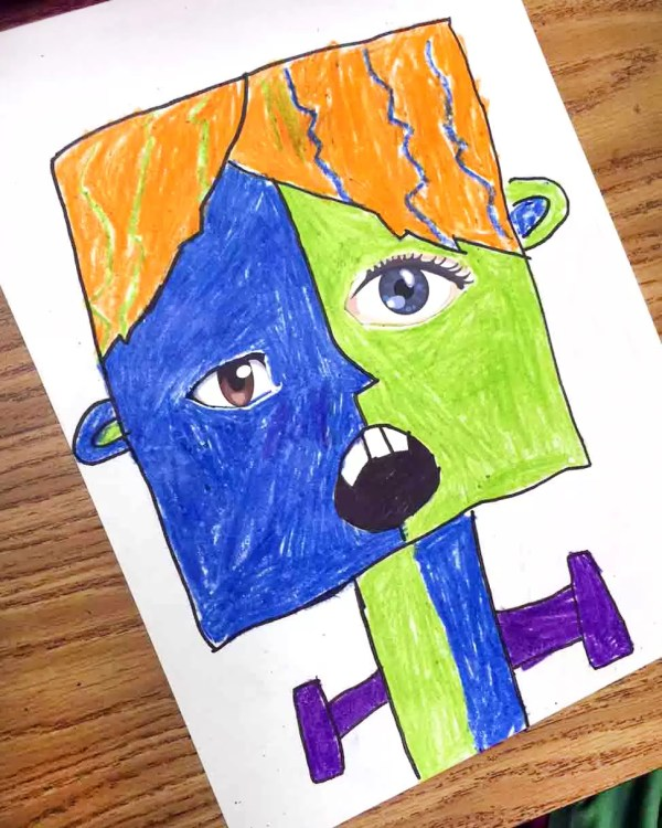 Picasso Monsters Art Projects Kids