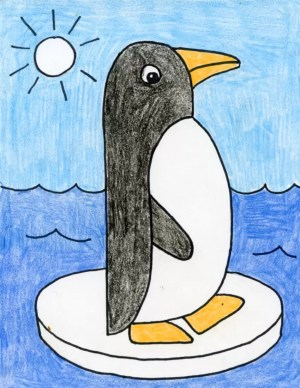 penguin drawing draw easy drawings basic projects dolphin shapes grade very artprojectsforkids simple kid animal teacherspayteachers side pages paintingvalley step