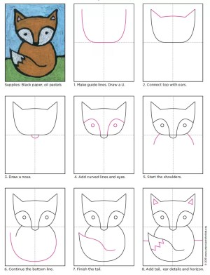 fox easy drawing draw drawings projects grade artprojectsforkids step craft super project really paint materials children lessons coloring read paintingvalley