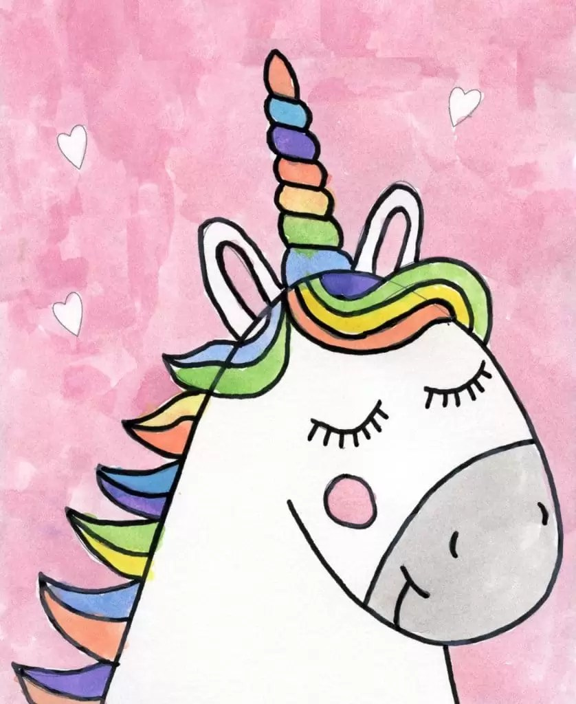 How To Draw Unicorn Baby : unicorn, Unicorn, Drawing, Projects