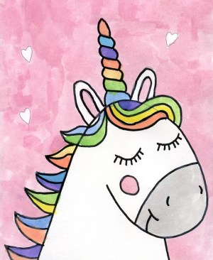 unicorn draw drawing easy drawings painting projects valentine directed sketches lessons