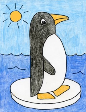penguin drawing draw easy basic drawings projects dolphin shapes grade side artprojectsforkids very simple kid pinguin animal teacherspayteachers pages paintingvalley