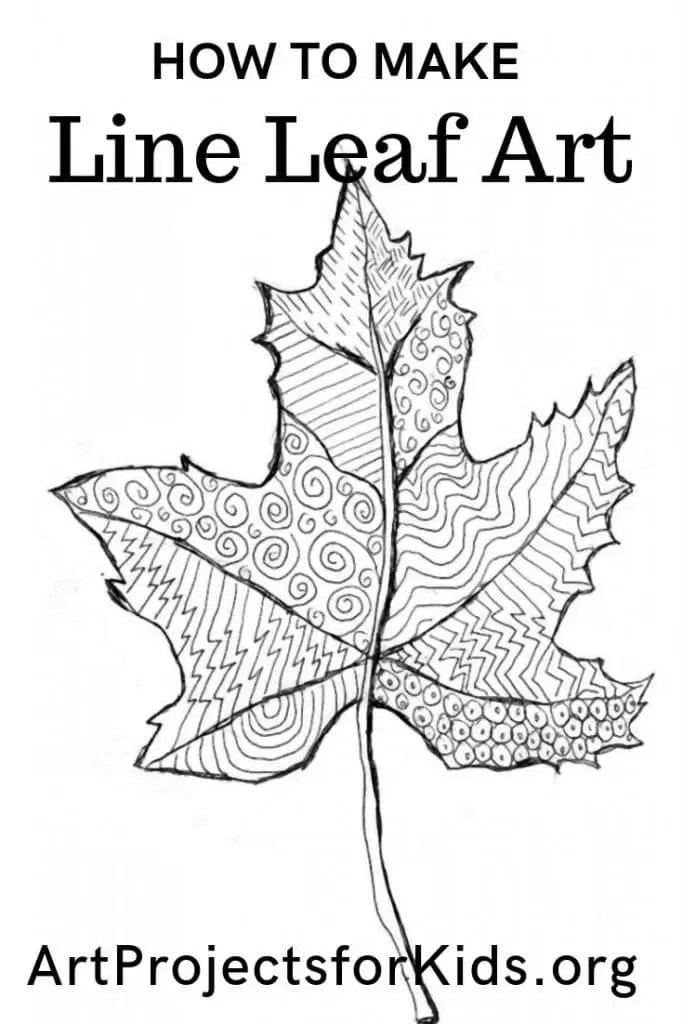 Leaf Line Drawing · Art Projects for Kids