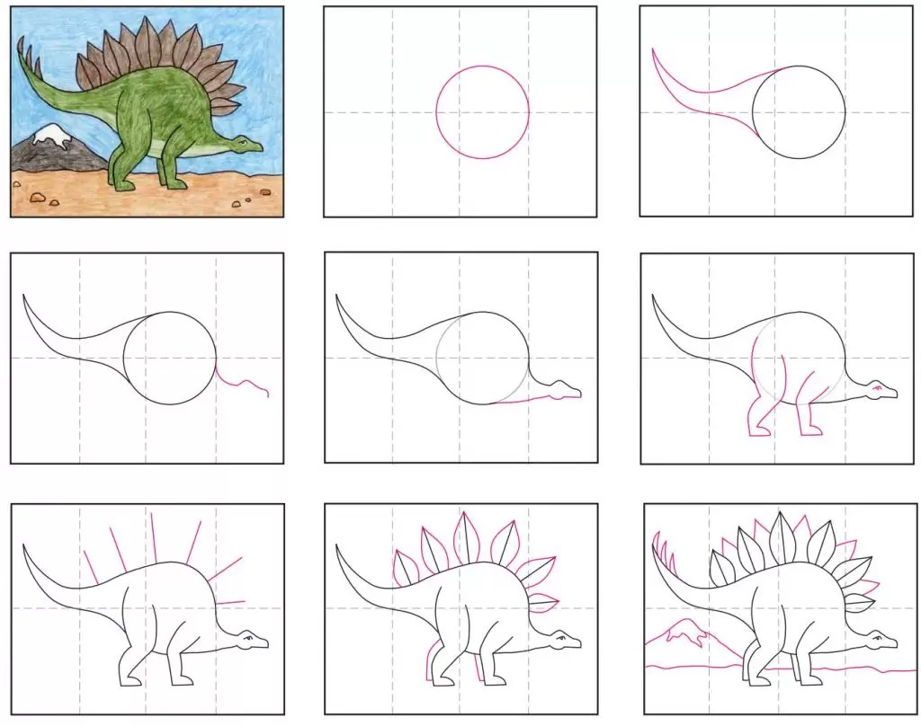 Draw A Stegosaurus Art Projects For Kids