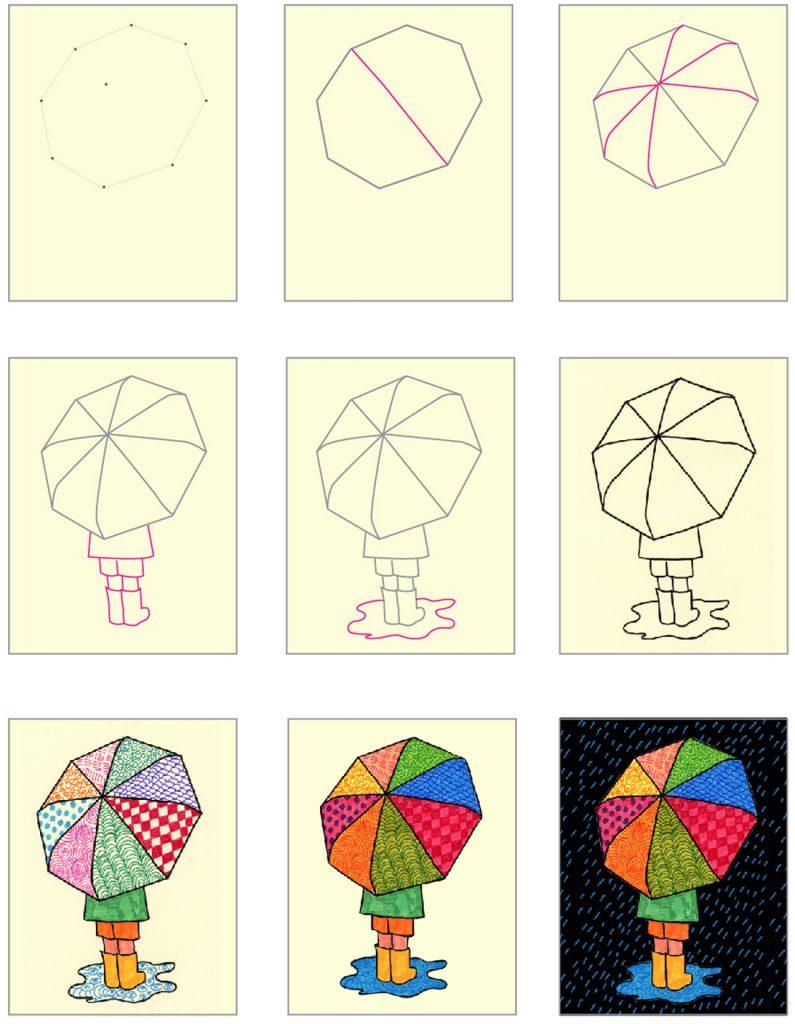 How To Draw An Umbrella Easy : umbrella, Umbrella,, 73%,Buy!