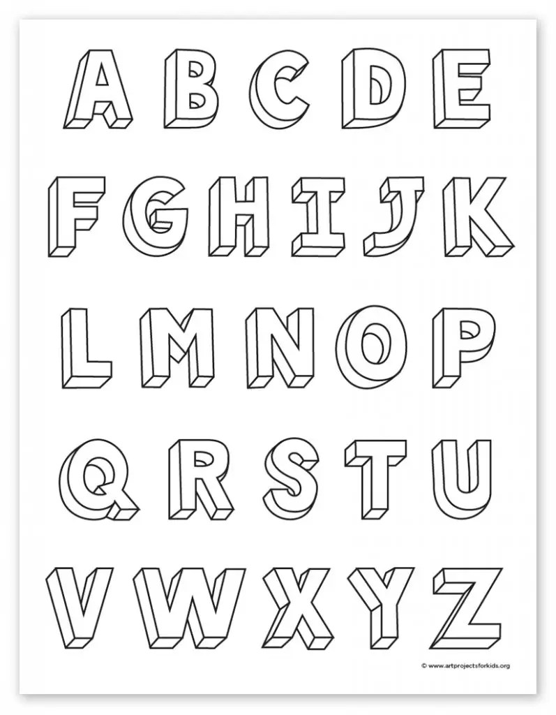 How to Write Calligraphic 3D Letters + Printable