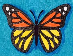 butterfly draw drawing projects sketch butterflies easy drawings artprojectsforkids fun simple children kid monarch steps wish