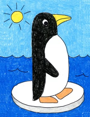 penguin easy draw drawing simple very projects graders