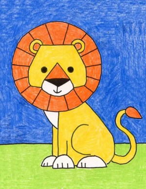 lion easy draw drawing projects simple painting lions lessons bloglovin