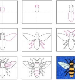 How to Draw a Bee · Art Projects for Kids [ 806 x 1024 Pixel ]