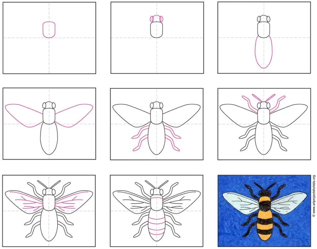 hight resolution of How to Draw a Bee · Art Projects for Kids